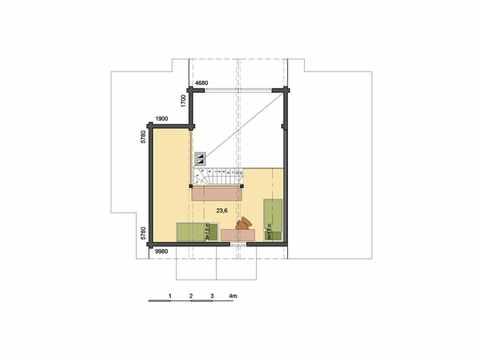 Holzhaus Hebe Grundriss DG