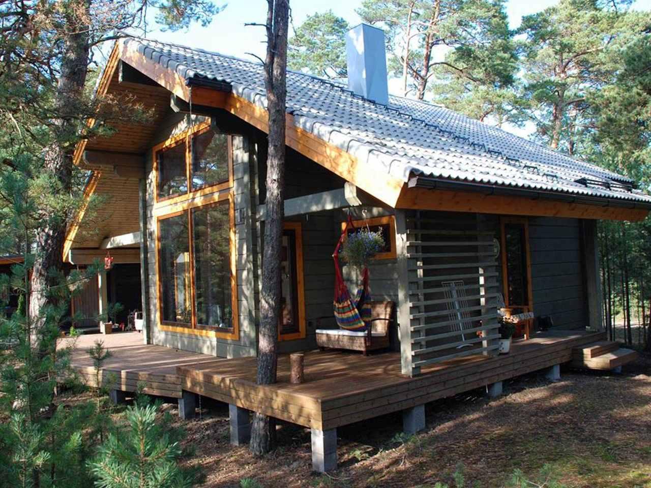 Holzhaus Hebe Hauptansicht