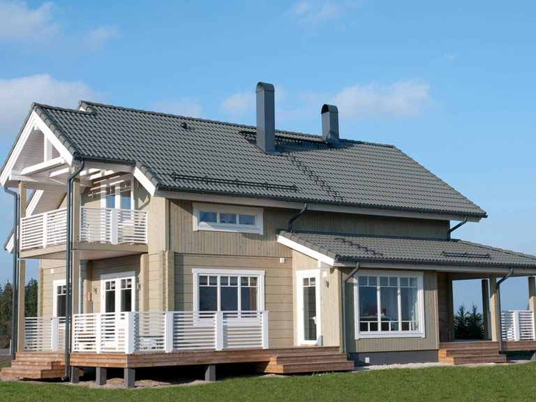 Holzhaus Leda - Finnlog Deutschland Garten