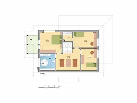 Holzhaus Leda Grundriss DG