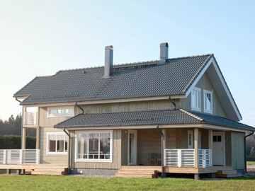 Holzhaus Leda Hauptansicht
