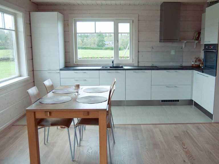 Holzhaus Leda - Finnlog Deutschland Essbereich und Küche