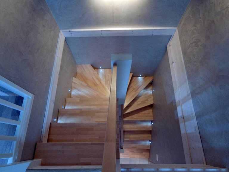 Holzhaus Leda - Finnlog Deutschland Treppe