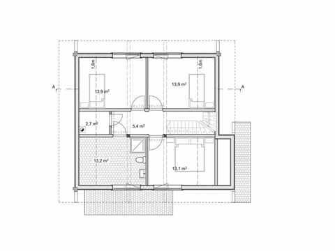 Holzhaus Magnolia Grundriss DG