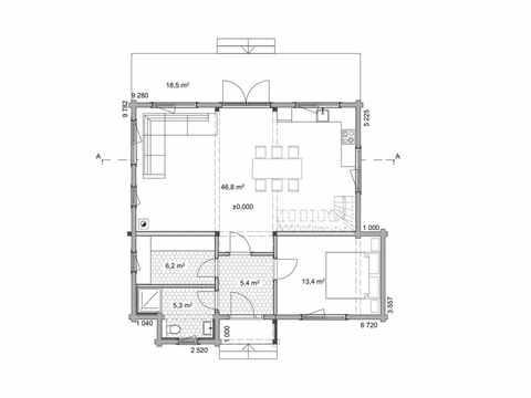 Holzhaus Magnolia Grundriss EG