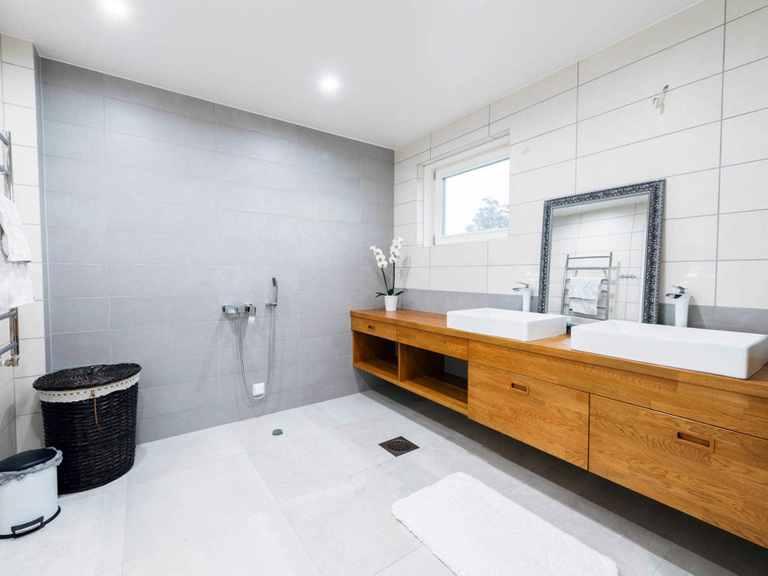 Holzhaus Woden - Finnlog Deutschland Badezimmer