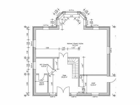 Turmhaus - Massivhaus Mathwig Grundris EG