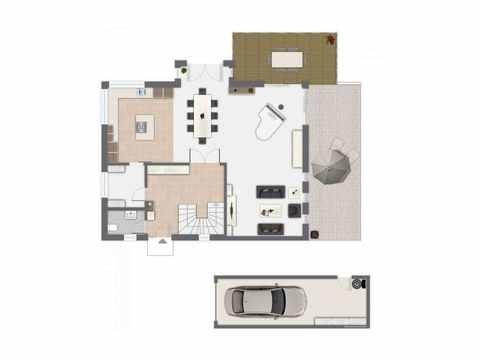 Einfamilienhaus Babelsberg - GUSSEK Haus Grundriss EG