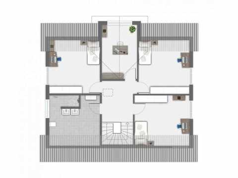 Einfamilienhaus Babelsberg - GUSSEK Haus Grundriss OG