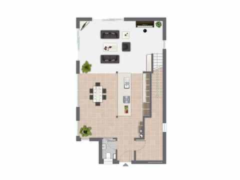 Kubus Haus San Marco - GUSSEK HAUS Grundriss EG