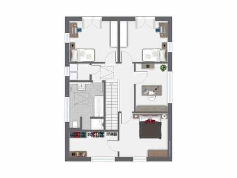 Einfamilienhaus Boavista - GUSSEK HAUS Grundriss DG