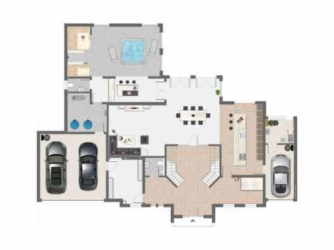 Villa Cannstatt - GUSSEK HAUS Grundriss EG
