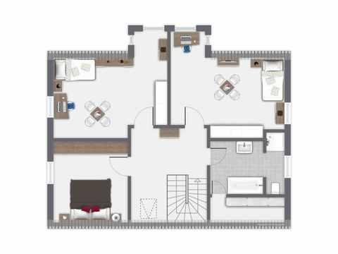 Einfamilienhaus Erlenbach - GUSSEK HAUS Grundriss DG