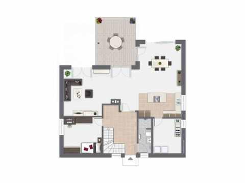 Einfamilienhaus Frankenbach - GUSSEK HAUS Grundriss EG