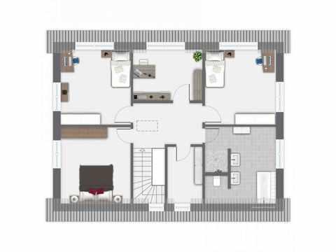 Einfamilienhaus Frankenbach - GUSSEK HAUS Grundriss OG