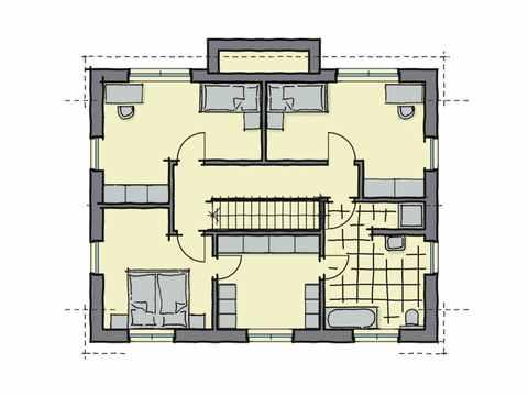 Einfamilienhaus Hainbuchenallee - GUSSEK HAUS Grundriss DG