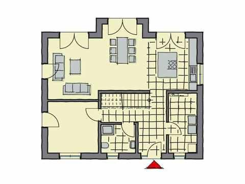 Einfamilienhaus Hainbuchenallee - GUSSEK HAUS Grundriss EG