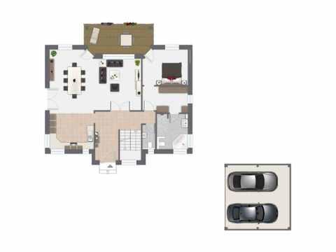 Einfamilienhaus Hellerberge - GUSSEK HAUS Grundriss EG