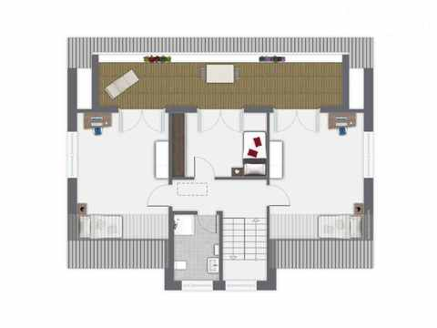 Einfamilienhaus Hellerberge - GUSSEK HAUS Grundriss OG