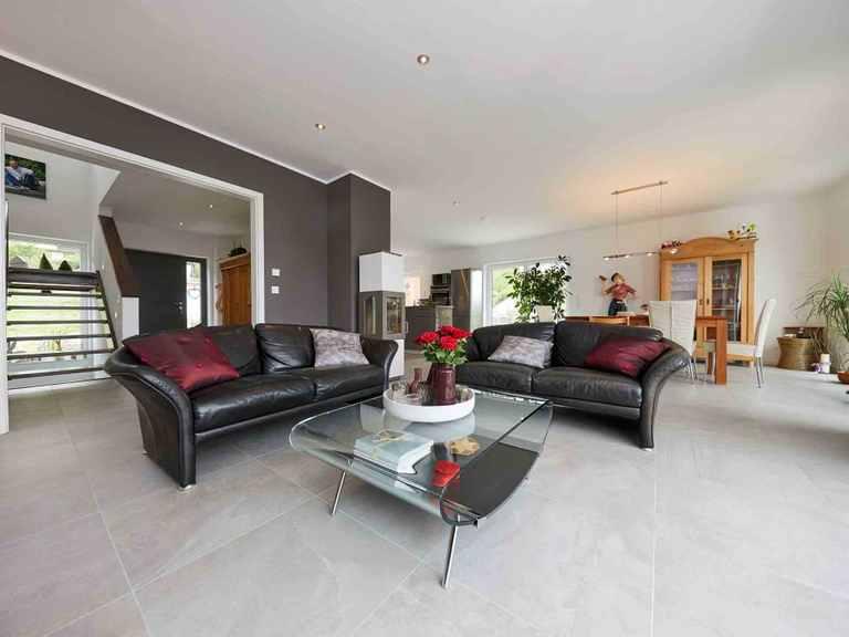 Einfamilienhaus Hellerberge - GUSSEK HAUS Wohnzimmer
