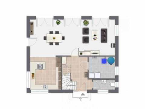 Einfamilienhaus Hoheneck - GUSSEK HAUS Grundriss EG