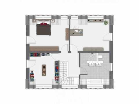 Einfamilienhaus Hoheneck - GUSSEK HAUS Grundriss OG