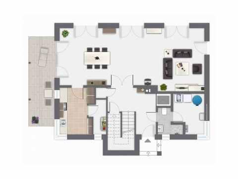 Einfamilienhaus Kaiserberg - GUSSEK HAUS Grundriss EG