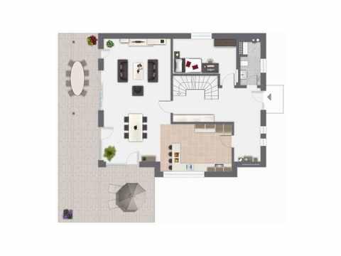 Einfamilienhaus Ponticelli - GUSSEK HAUS Grundriss EG