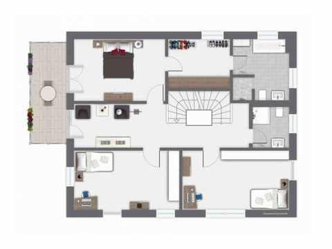 Einfamilienhaus Ponticelli - GUSSEK HAUS Grundriss OG