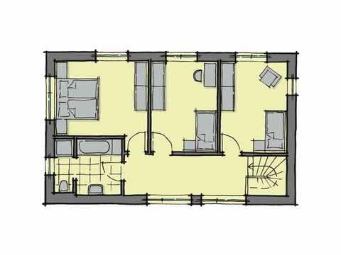 Kubus Haus Santa Monica - GUSSEK HAUS Grundriss DG