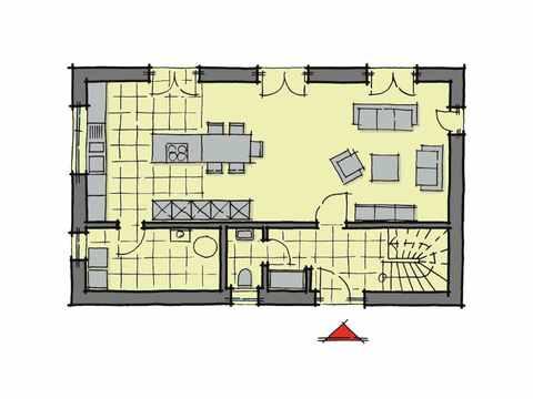 Kubus Haus Santa Monica - GUSSEK HAUS Grundriss EG