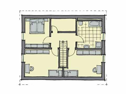 Einfamilienhaus Weidenallee - GUSSEK HAUS Grundriss DG