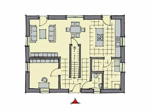 Einfamilienhaus Weidenallee - GUSSEK HAUS Grundriss EG
