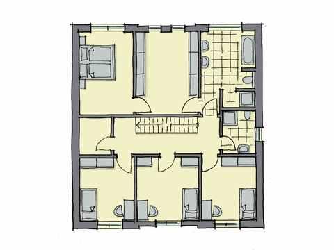 Kubus Haus Wynwood - GUSSEK HAUS Grundriss DG