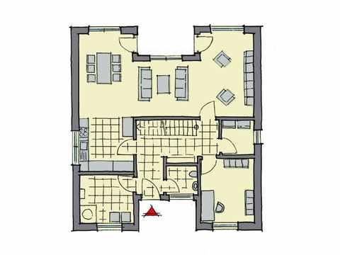 Kubus Haus Wynwood - GUSSEK HAUS Grundriss EG