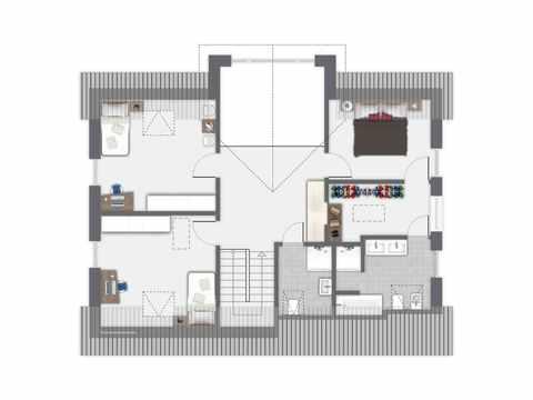 Einfamilienhaus Sanderau - GUSSEK HAUS Grundriss DG