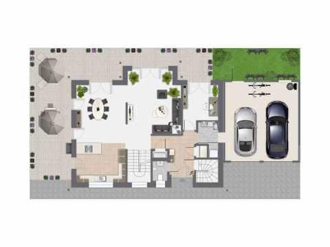 Einfamilienhaus Sanderau - GUSSEK HAUS Grundriss EG