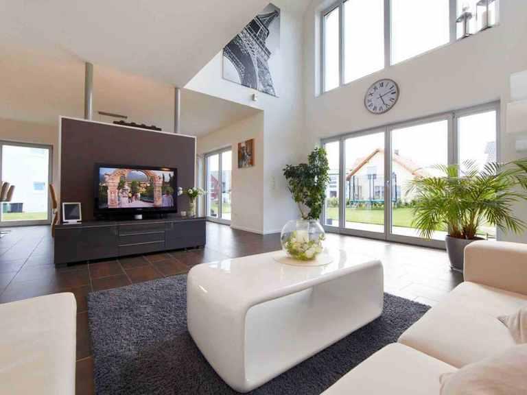 Einfamilienhaus Sanderau - GUSSEK HAUS Wohnzimmer