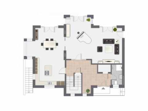 Einfamilienhaus Siebenbrunn - GUSSEK HAUS Grundriss EG