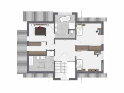 Einfamilienhaus Siebenbrunn - GUSSEK HAUS Grundriss OG