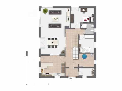 Einfamilienhaus Waldsee - GUSSEK HAUS Grundriss EG