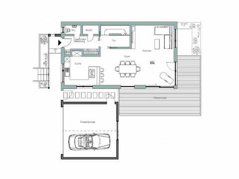 Kubus Haus Unikat 091 - TALBAU-Haus Grundriss EG