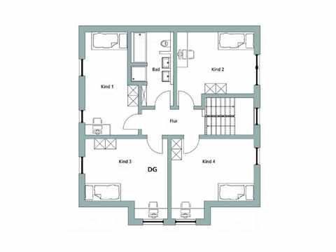 Einfamilienhaus Unikat 122 - TALBAU-Haus Grundriss DG