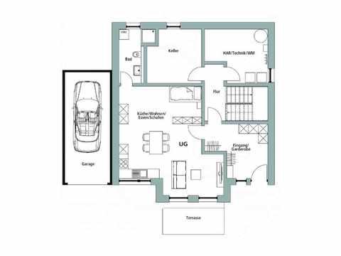 Einfamilienhaus Unikat 122 - TALBAU-Haus Grundriss KG