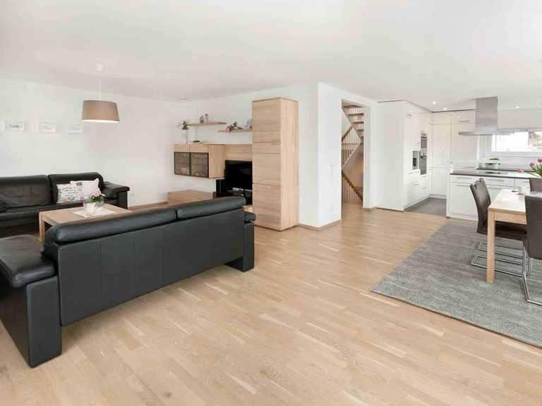 Einfamilienhaus Unikat 122 - TALBAU-Haus Wohnzimmer