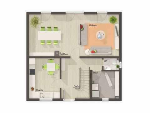 Einfamilienhaus Flair 113 - HausBau Hauke Tießen Grundriss EG
