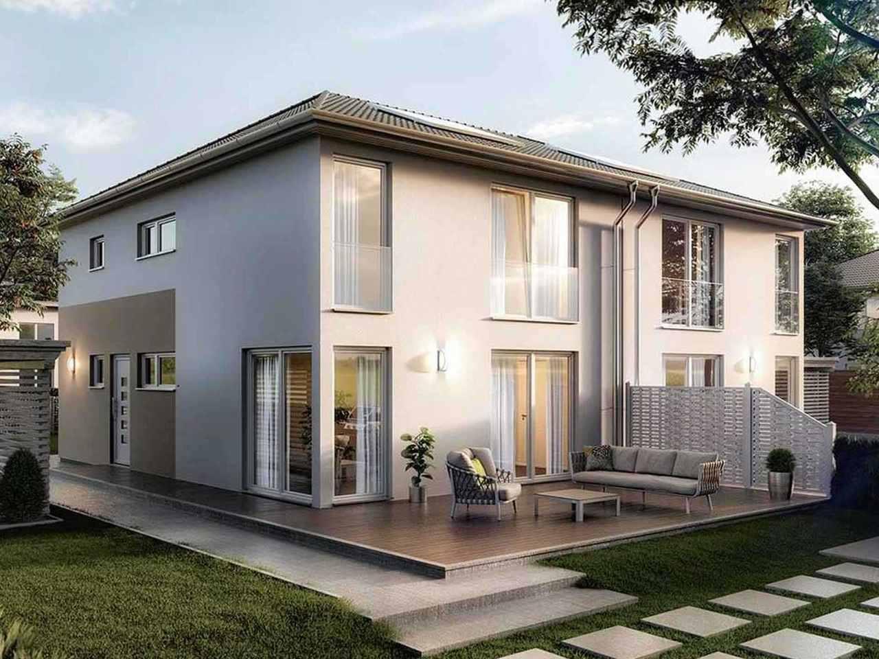 Doppelhaus Aura 136 - Langer Massivbau