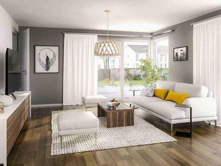 Doppelhaus Aura 136 - Langer Massivbau Wohnzimmer