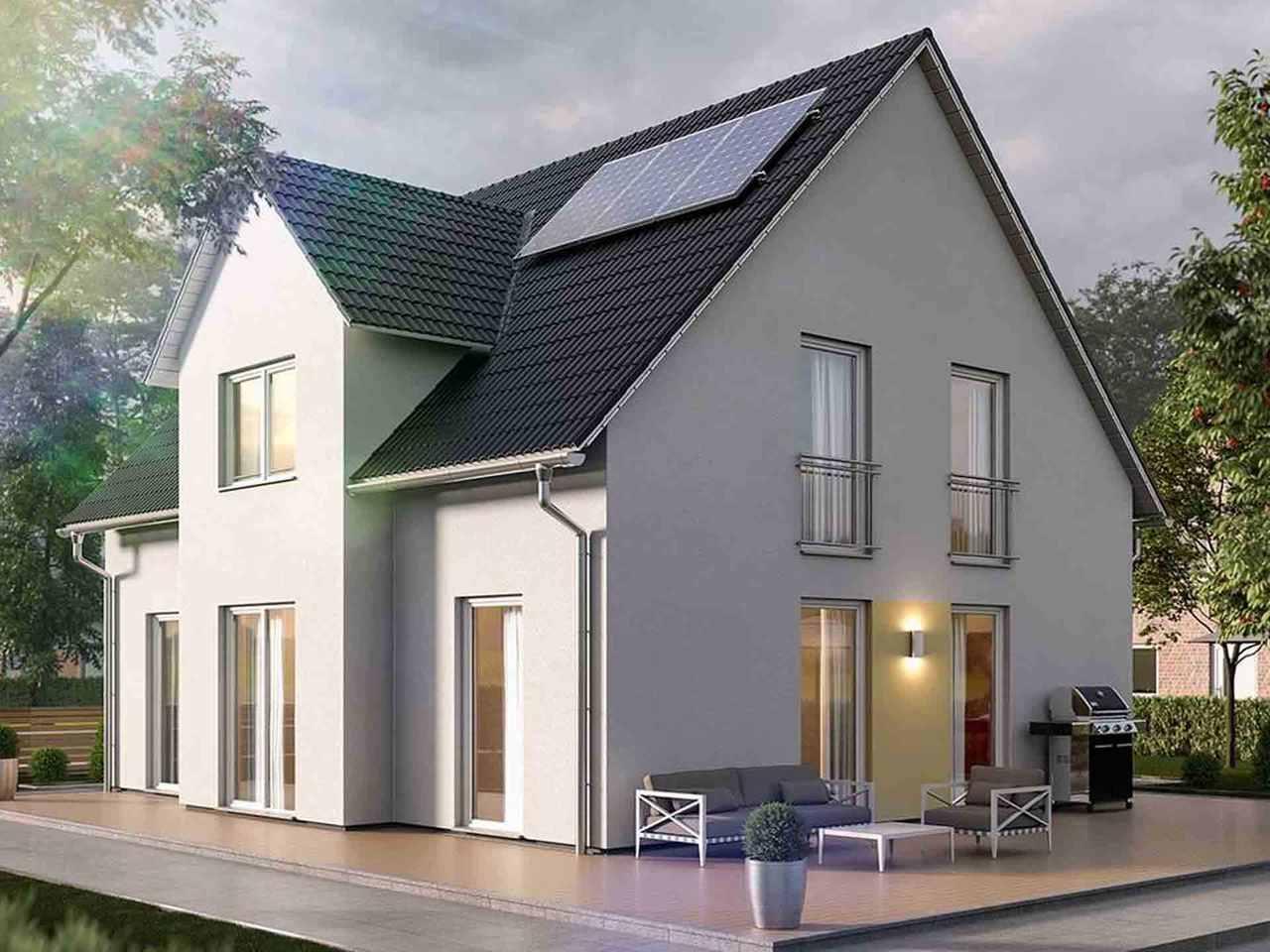 Lichthaus 152 - Langer Massivbau Terrasse