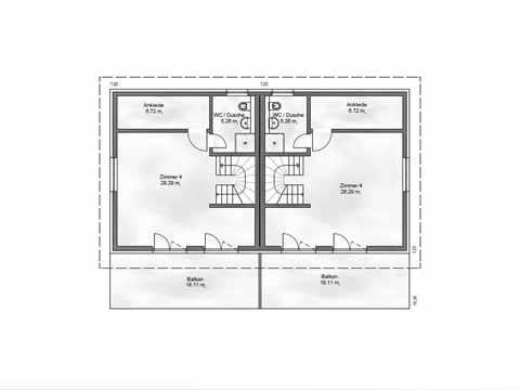 Zweifamilienhaus Funktionale 176 - ekodom Hausbau Grundriss DG